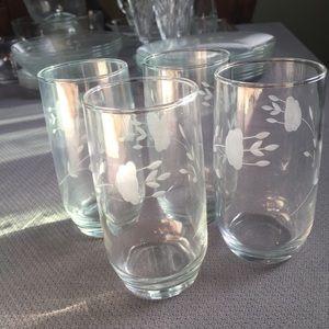 Four piece Princess House glass